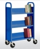 3 Single Sided Sloped-Shelf Booktruck